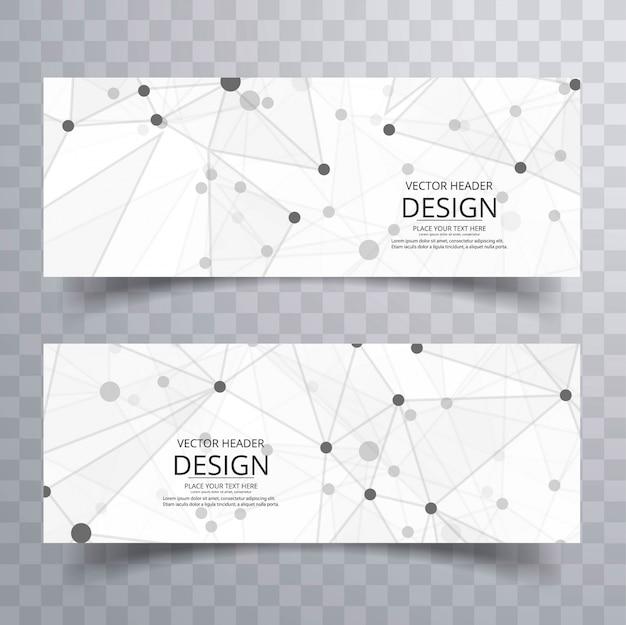 Modello di intestazione creativo astratto poligono