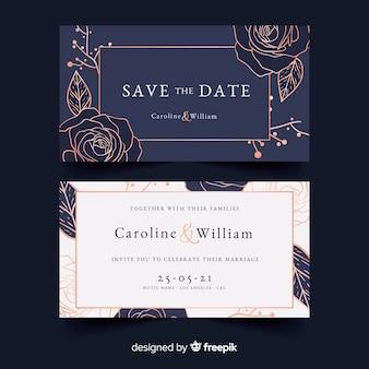 Modello di invito a nozze