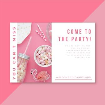 Modello di invito a una festa