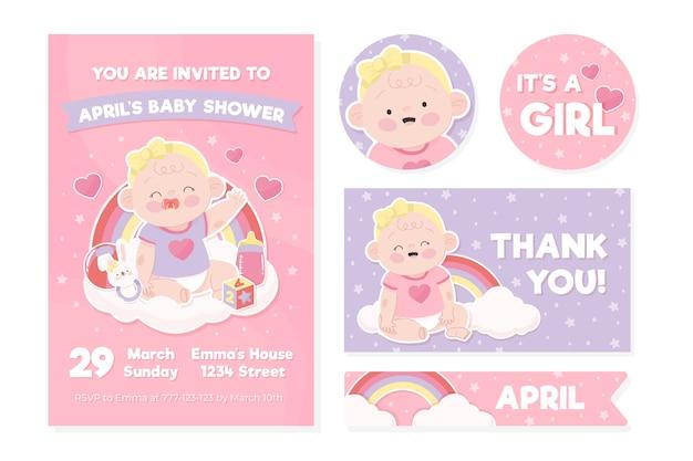 Modello di invito baby doccia