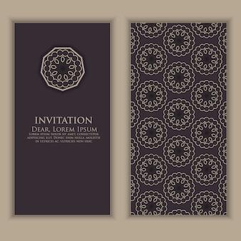 Modello di invito con elementi decorativi arabi