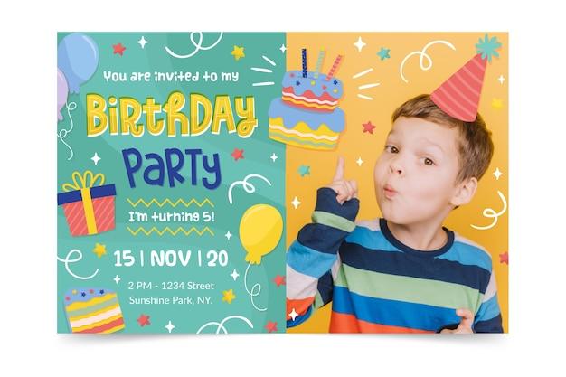 Modello di invito di buon compleanno
