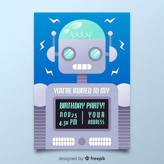 Modello di invito di compleanno per bambini