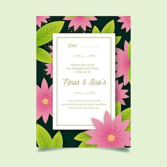 Modello di invito di fidanzamento floreale