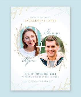 Modello di invito di fidanzamento