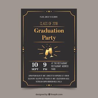 Modello di invito di laurea