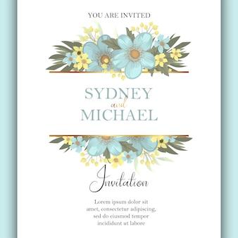 Modello di invito di nozze verde menta