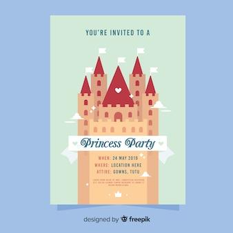 Modello di invito festa castello principessa