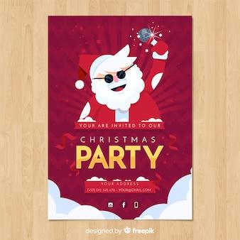 Modello di invito festa di natale