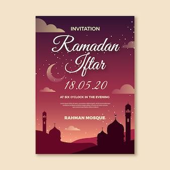 Modello di invito iftar di ramadan