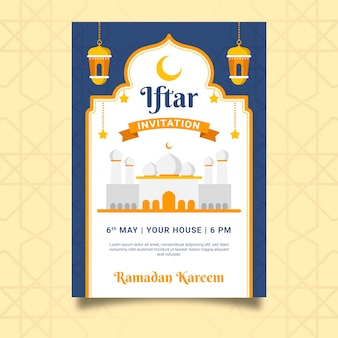 Modello di invito iftar