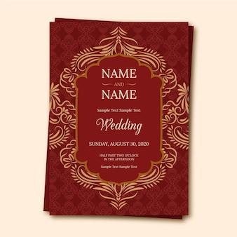 Modello di invito matrimonio indiano