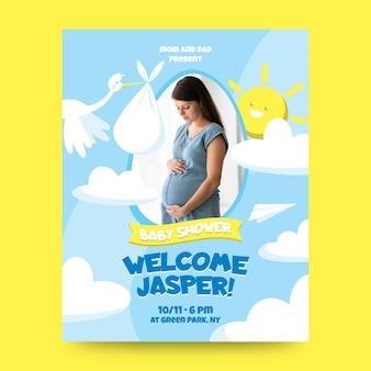 Modello di invito per baby shower