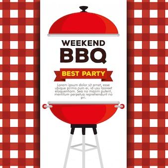 Modello di invito per griglia barbecue