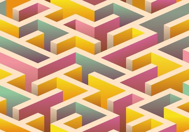 Modello di labirinto senza cuciture isometrica.