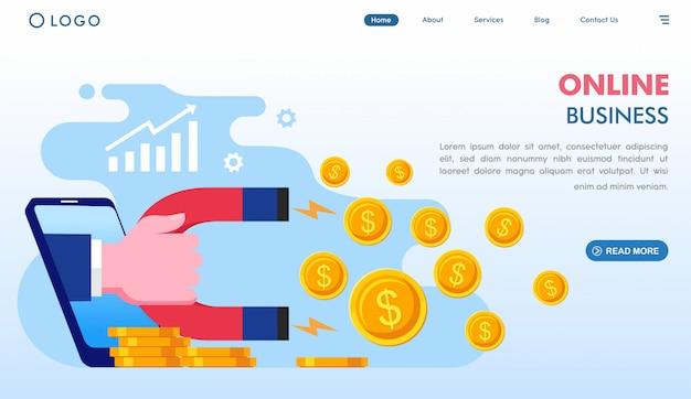 Modello di landing page aziendale online