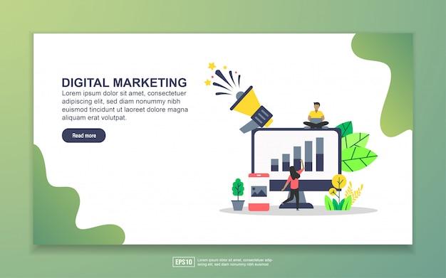 Modello di landing page del marketing digitale