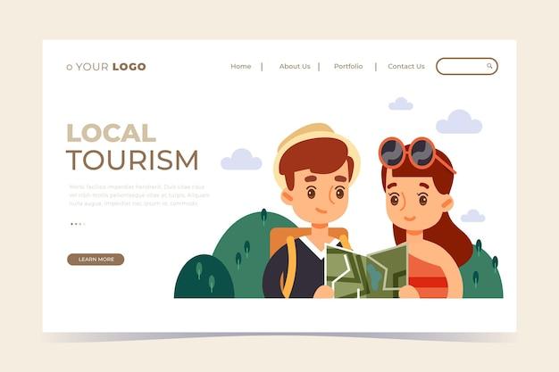 Modello di landing page del turismo locale