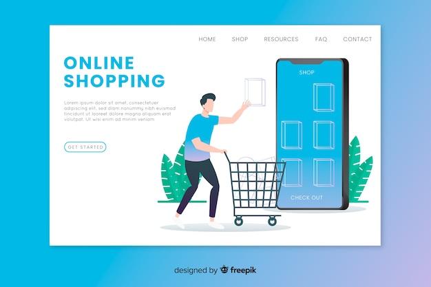 Modello di landing page dello shopping online