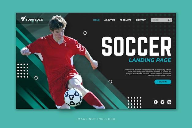 Modello di landing page di calcio