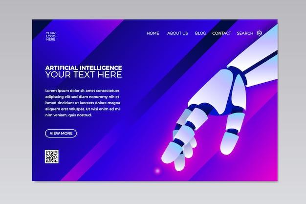 Modello di landing page di intelligenza artificiale