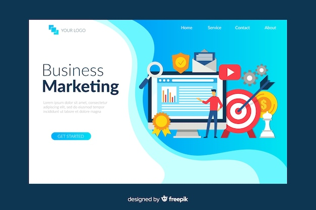 Modello di landing page di marketing digitale