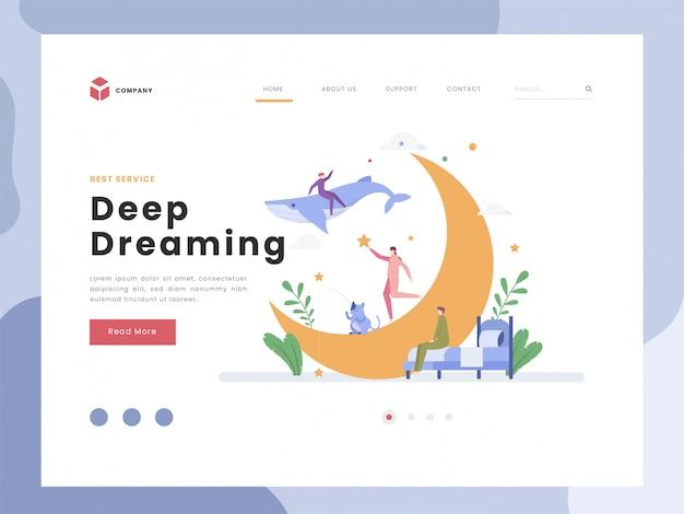 Modello di landing page di sogno profondo