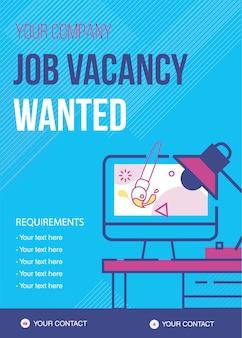 Modello di lavoro vacante ricercato