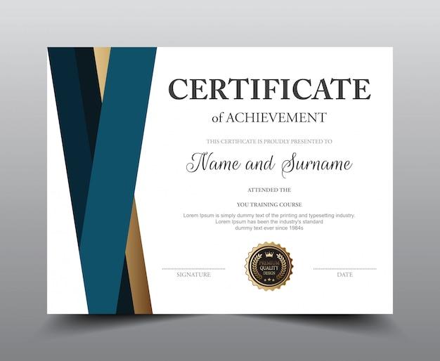 Modello di layout del certificato.