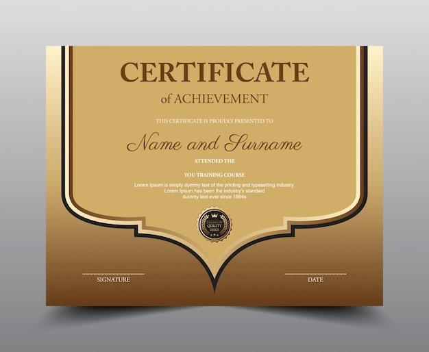 Modello di layout del certificato