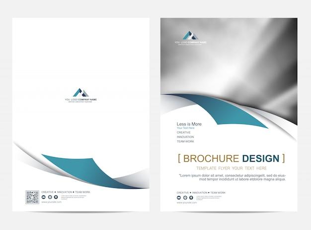 Modello di layout dell'opuscolo, sfondo di disegno di copertina