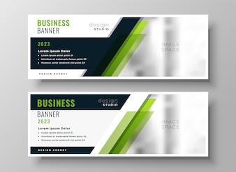 Modello di layout di banner di business verde professionale