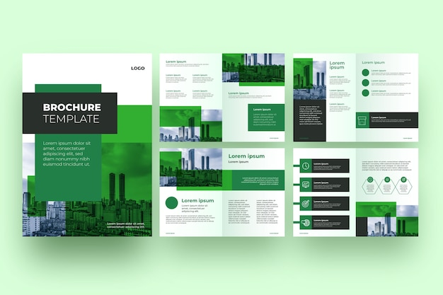 Modello di layout professionale dell'opuscolo