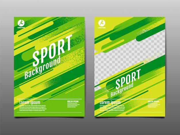 Modello di layout, sfondo sport, illustrazione.
