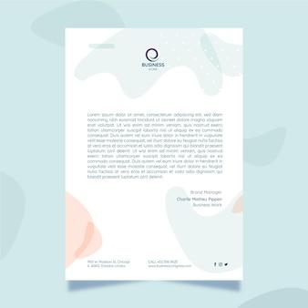 Modello di lettera commerciale minimalista