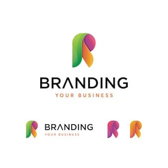 Modello di lettera r logo