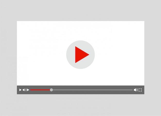 Modello di lettore o registratore video. concetto di film. illustrazione.