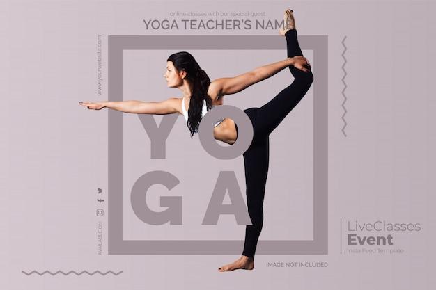 Modello di lezioni di yoga online