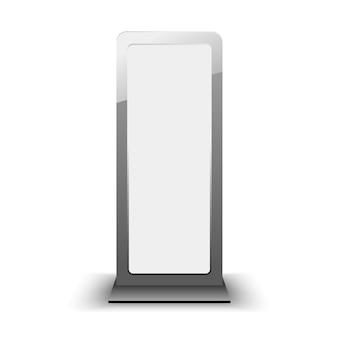 Modello di lightbox città vuota. cartellone bianco e modello di pubblicità esterna. elemento in.