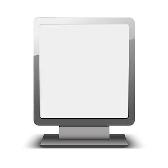 Modello di lightbox città vuota. cartellone bianco e modello di pubblicità esterna. =