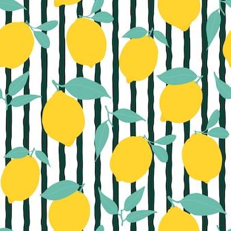 Modello di limone senza soluzione di continuità con strisce