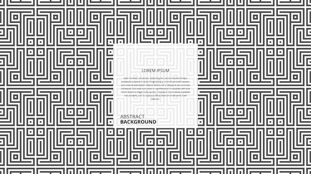 Modello di linee astratte decorative forma quadrata