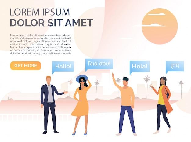Modello di lingue straniere per i turisti