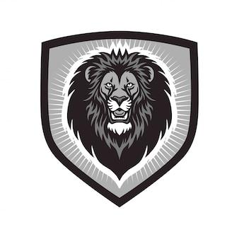 Modello di lion head esports mascot logo