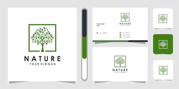 Modello di logo a forma di albero