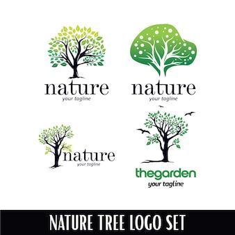 Modello di logo albero natura