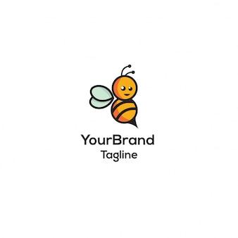 Modello di logo ape