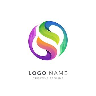 Modello di logo astratto colorato