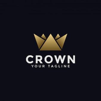 Modello di logo astratto corona