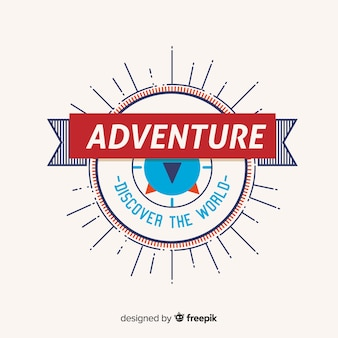 Modello di logo avventura vintage
